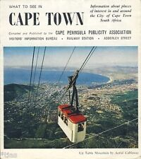 Kapstadt What to see in Cape Town Südafrika South Africa brochure um 1970