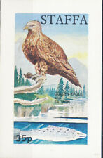 W STAFFA 050 NON POSTAL BIRDS GOLDEN EAGLE SOUVENIR SHEET