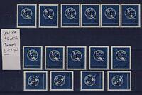 BUND Nr. 476** postfrisch 15 Stück Gummi berührt UIT 1965