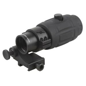 Vector Optics Tactical 4X Magnifier Scope for Red Dot Sights Flip to Side Mount
