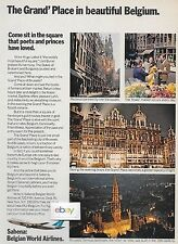 SABENA BELGIAN WORLD AIRLINES 1971 GRAND PLACE SQUARE IN BRUSSELS 747 AD