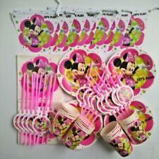 81pc Kids Minnie Mouse Birthday Party Supplies Favor Tableware Decoration Plate