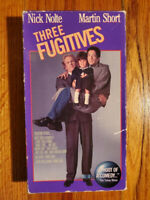 Three Fugitives Nick Nolte Martin Short 1989 VHS HTF OOP Original Rare Comedy