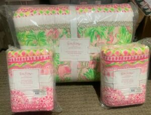 Pottery Barn Kids Lilly Pulitzer on parade patchwork FULL QUEEN quilt Euro Shams