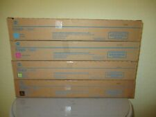 Genuine Konica Minolta BizHub C450i, C550i, C650i TN626 Color Toner Set KYMC New