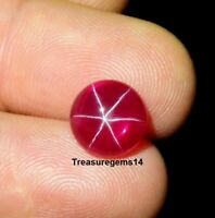 6.20 Ct Ring Size Natural Ruby Star Sapphire 6 Ray Round Cabochon Loose Gemstone