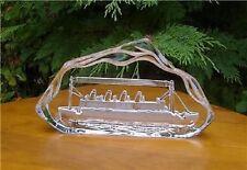 Crystal Art TITANIC Model Ship Plaque/Paperweight BNIB