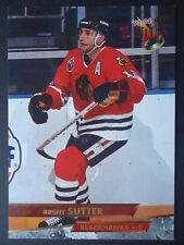 NHL 206 Brent Sutter Chicago Blackhawks Fleer Ultra 1993/94