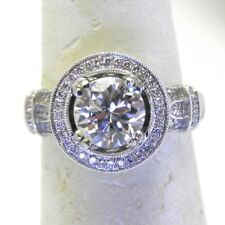 1.54ct Round Center Stone Halo Style Engagement Ring