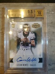 2016 Panini Honors CARSON WENTZ #77 Auto /99 Rookie Card RC BGS 9.5/10!