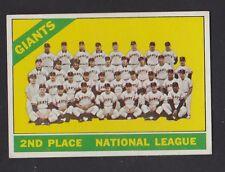 1966  TOPPS  BASEBALL  # 19  SAN FRANCISCO GIANTS  TEAM  EX+   INV A132