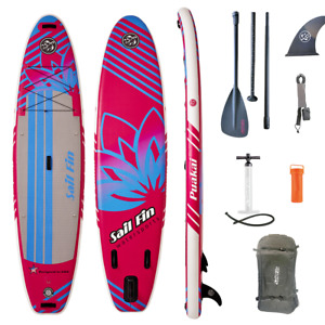 Inflatable Paddle Board 11 feet - Sail Fin Puakai 1-Year Limited Warranty