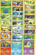 COMPLETE 50) BOUNDARIES CROSSED COMMON Nonholo Card Set MINT-Charmander Squirtle
