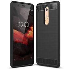 Telefoon Case voor Nokia 5.1 Gummi Handige Hoes Flexibel Smartphonehoesje Zwarte