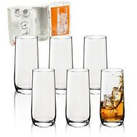 3 or 6 350ml Bormioli Rocco Loto Tall Tumber Hi Ball Drinking Juice Glasses Cup