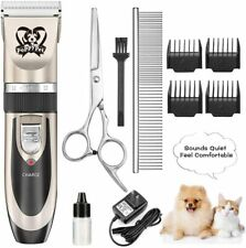 Dog Grooming Clippers Electric Dog Trimmer Shaver Clippers for Thick Coats Recha