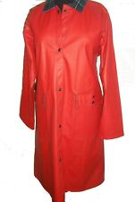 RAINCOAT LOT ONE BOSTON BRAND SLICKER RAINCOAT RED SIZE M BELOW KNEE LINED