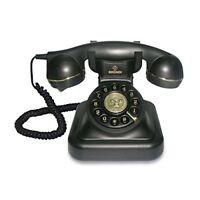 Teléfono Retro Analógico Con Cable Decoracion Diseño Antiguo Vintage Color Negro