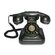 Telefon Retro Analog Mit Kabel Dekoration Design Alte Vintage Farbe Schwarz