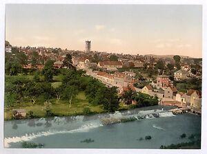 5 Victorian Views Pictures Ludlow Castle Church Dinham Bridge Vintage Photo Set
