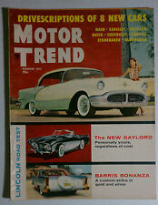 MOTOR TREND VINTAGE MAGAZINE 1955 DECEMBER OLDS BARRIS PLYMOUTH BUICK DODGE