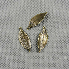 2x Jewelry Making Pendant Vintage Findings Charms Jewellery A1894 Leaf Connector