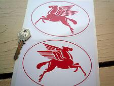 """Mobil red pegasus 5"""" ovale main hot rod décalque stickerscustom rétro bobber etc"""