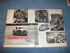 """1936 Chevy Dirt Modified Circle Track Car Article """"Runnin' Wild"""""""