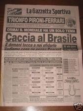 GAZZETTA DELLO SPORT 04/07/1982 CAMPIONATO DEL MONDO