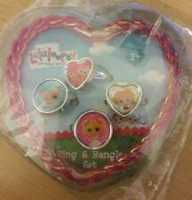 LaLaLoopsy Children Ring & Bangle Set (4 Rings & 4 Bangles), 3+ Multi-color NWT