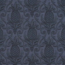 E521 Blue, Pineapple Durable Jacquard Upholstery Grade Fabric By The Yard