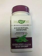 Natures Way Essential Immune Andrographis Vitamin C Zinc 60 Vegan Caps Exp: 3/21