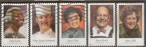 Scott #4922-26 Used Set of 5, Celebrity Chefs (Off Paper)