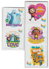 """12 Beat Bugs Stickers, 2.5""""x2.5"""" ea., Party Favors"""