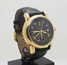 Mint 18k Gold Montblanc Meisterstuck Star GMT Chronograph Ref 7139 42MM
