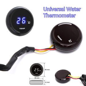 Durable Blue Digital Display Motorcycle Instruments Water Temp Temperature Gauge