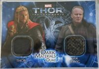 Thor / Selvig Dark World Dark Materials Dual Upper Deck 2013 Trading Card #DMD-1
