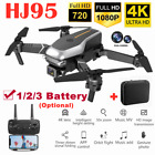 Drone Pro WIFI FPV 4K HD Dual Camera Battery Foldable Selfie RC Quadcopter 2021