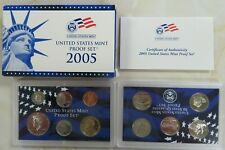 2005 S Complete Clad Proof Set Quarters Kennedy Lincoln Sacagawea with box COA