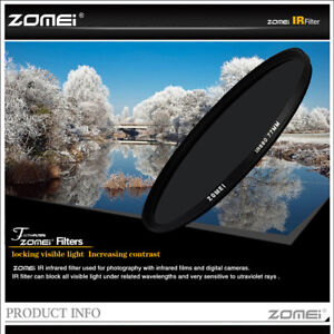 Zomei 49/52/55/58/62/67/72/77/82mm 720-950NM Infrared X-RAY IR Filter for DSLR