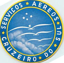 Serviços Aéreos Cruzeiro do Sul ~BRAZIL~ Great Old Airline Luggage Label, 1955