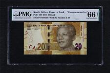 "2018 South Africa Reserve Bank ""Commemorative"" 20 Rand Pick#144 PMG 66 EPQ UNC"