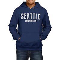 SEATTLE WASHINGTON American Home State Hoodie Mens Football Womens Seahawks USA