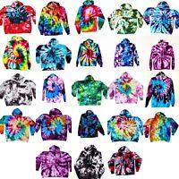 Tie Dye Hoodie Zipper Pocket Tye Die S M L XL 2XL 3XL Hanes Very Soft Cotton 90%