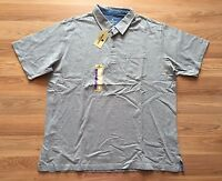 NWT Mens WOOLRICH Light Heather Gray Pocket Cotton S/S Polo Shirt Size M Medium