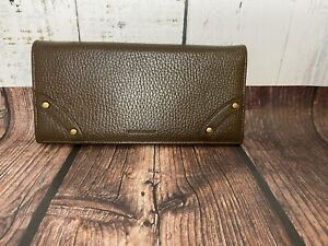 Burberry Women's Long Brown Leather Wallet Authentic
