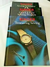 Singer Sewing Reference Library Book  3 TItles