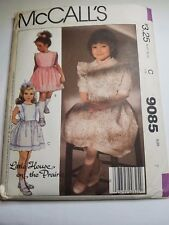 MCCALLS 9085, VTG 1984, CHILD, GIRL PINAFORE, SUNDRESS. SIZE 7, PREOWNED UNCUT