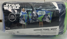 "Star Wars  Hooded Towel Kids Boys Blue Color Size 22"" X 51"" New. Open Package."