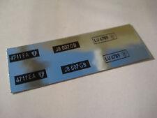 Corgi 270 James Bond DB5  Number Plates Chrome Stickers - B2G1F